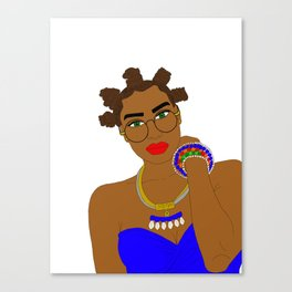 West African Girl with Chiney Bumps Canvas Print