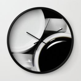 #Yin & #Yang, #coffee and #milk in #Cups #homedecors Wall Clock