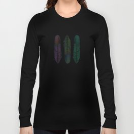 Feathers on silver Long Sleeve T-shirt