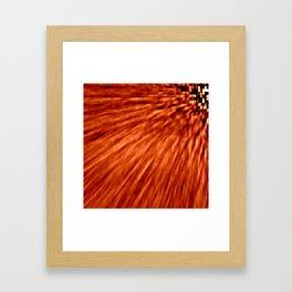 Burnt Orange Pixel Wind Framed Art Print