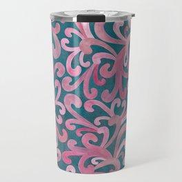 Pink on Green - Paisley Travel Mug