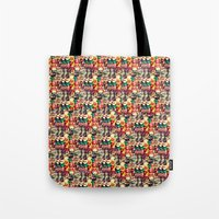 mouth Tote Bags featuring mouth to mouth by bisualhart