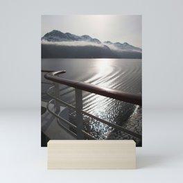 Misty Mountains in Alaska Mini Art Print