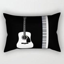 Guitar Piano Duo Rectangular Pillow