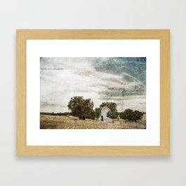 Little Blue Church Framed Art Print