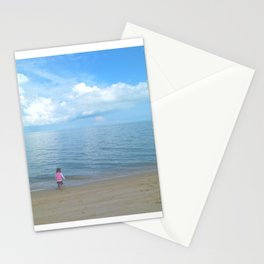 a beach in Penang Stationery Cards
