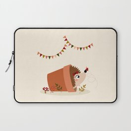 Hérisson et papillon Laptop Sleeve