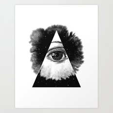 The Eye In The Sky Art Print