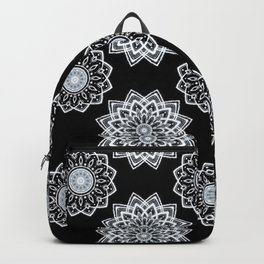 Mandala pattern black  Backpack