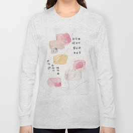 180805 Subtle Confidence 1| Colorful Abstract |Modern Watercolor Art Long Sleeve T-shirt