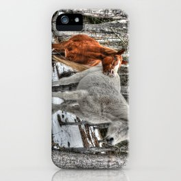 Caught in the Act iPhone Case