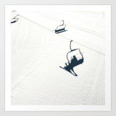 Chair lift shadow Art Print