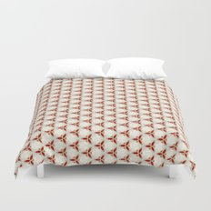 Three red pattern Duvet Cover
