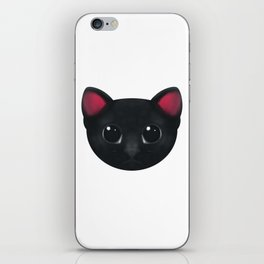 Black Cat Hypnotise iPhone Skin