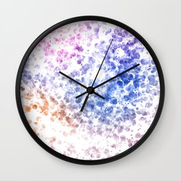 Colorful Watercolor Spots Wall Clock