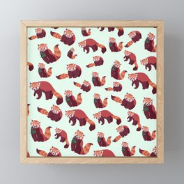 Red Panda Pattern Framed Mini Art Print