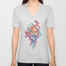 Weaving Lines Unisex V-Neck