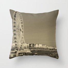 Ferris Wheel at Brighton, UK Throw Pillow