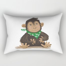 Cute baby chimp illustration Rectangular Pillow