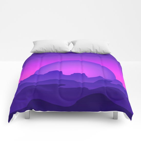 Night Landscape Comforters