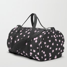 Abstract Modern Black Pink Watercolor Splatters Duffle Bag