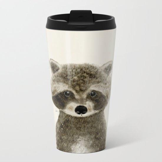 little raccoon Metal Travel Mug