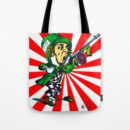 Mad Hatter Sunburst Tote Bag