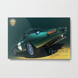 1963 Jaguar E-TYPE Lightweight Metal Print
