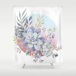 succulent full moon 2 Shower Curtain