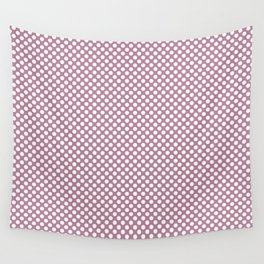 Rosebud and White Polka Dots Wall Tapestry