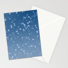 Sparkly Blue Snow Stationery Cards