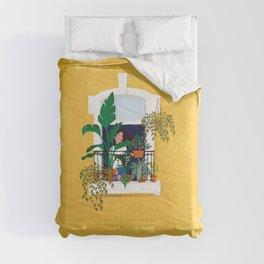 Lisbon girl Comforters
