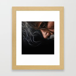 Man in thought Framed Art Print