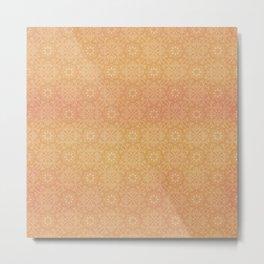 Indian Summer Mandala Copper Metal Print