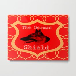 The German Shield Metal Print