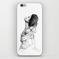lady iPhone & iPod Skins featuring Pretty Lady Illustration by Olechka
