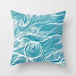 Rough sea (our earth) Throw Pillow