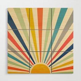 Sun Retro Art III Wood Wall Art