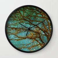 lights Wall Clocks featuring Magical by The Last Sparrow