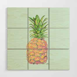 Mint Brite Pineapple Wood Wall Art