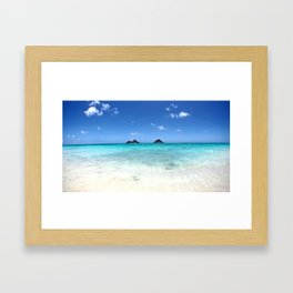 Summer at Lanikai Beach Framed Art Print