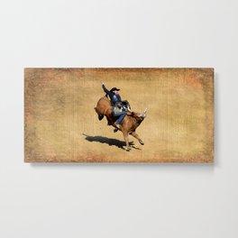 Bull Dust! - Rodeo Bull Riding Cowboy Metal Print