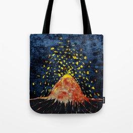 Erupting volcano Tote Bag