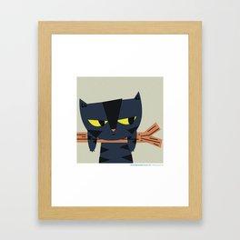 #30daysofcats 01/30 Framed Art Print