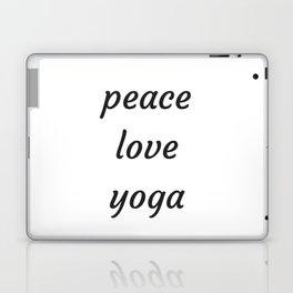 PEACE LOVE YOGA Laptop & iPad Skin
