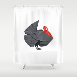 Origami Turkey Shower Curtain
