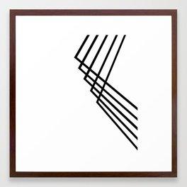 Black lines. Framed Art Print