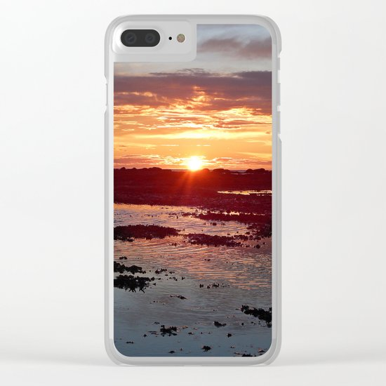 Sunset from the Beach Clear iPhone Case