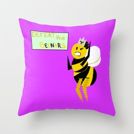 Defeat the Beenary Throw Pillow