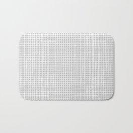 Light Grey Grid Bath Mat